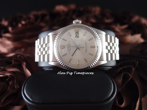 Rolex DATEJUST 1601 SS ORIGINAL Silver Dial (No Lume) with Jubilee Band