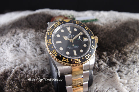 Rolex GMT-MASTER 2 116713LN 2-Tone Ceramic Bezel Full Set