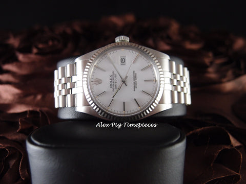 Rolex DATEJUST 16014 Stainless Steel Original White Stick Dial