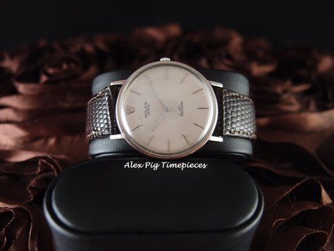 Rolex CELLINI 3739 18K White Gold Manual Winding