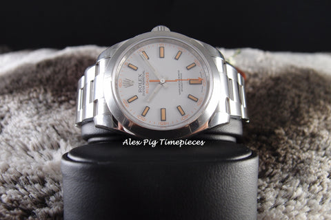 Rolex MILGAUSS 116400 White Dial Full Set