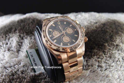 Rolex DAYTONA 116505 18K Rose Gold Black Dial Full Set