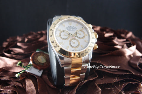 Rolex DAYTONA 116523 2-Tone White Dial Full Set