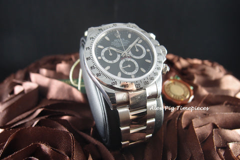 Rolex DAYTONA 116520 Stainless Steel Black Dial Full Set