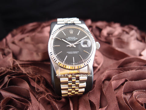 Rolex DATEJUST 16014 Stainless Steel Original Black Dial