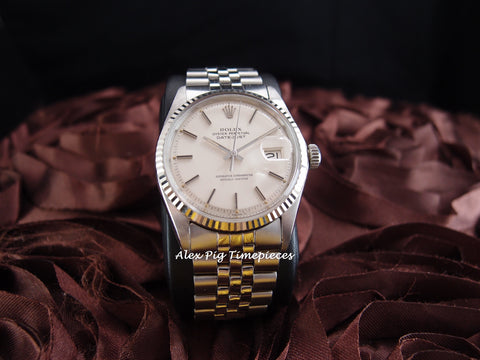 Rolex DATEJUST 1601 SS ORIGINAL Silver Dial with Jubilee Band