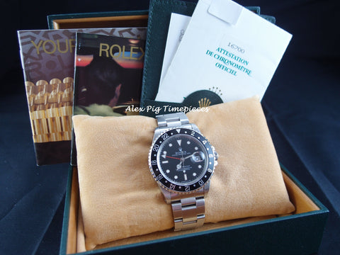 Rolex GMT MASTER 16700 Black Bezel with BOX and PAPER