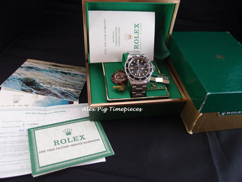 Rolex SUBMARINER 1680 Matt Dial Full Set with Box and Paper