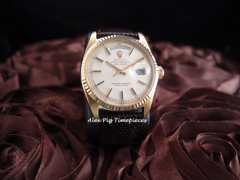 Rolex DAY-DATE 1803 18K Gold with Original Creamy Dial with 5 Min Track