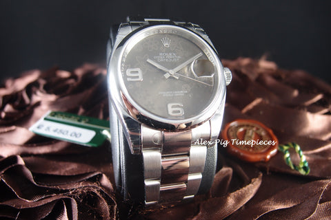 Rolex DATEJUST 116200 Stainless Steel Rhodium Flora Dial Full Set