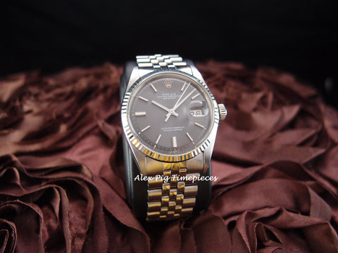 Rolex DATEJUST 1601 SS ORIGINAL Grey Dial with Jubilee Band