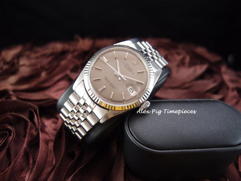 Rolex DATEJUST 1601 SS ORIGINAL Bronze Dial with Jubilee Band