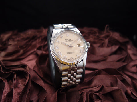 Rolex DATEJUST 16014 Stainless Steel Original Ivory Roman Dial