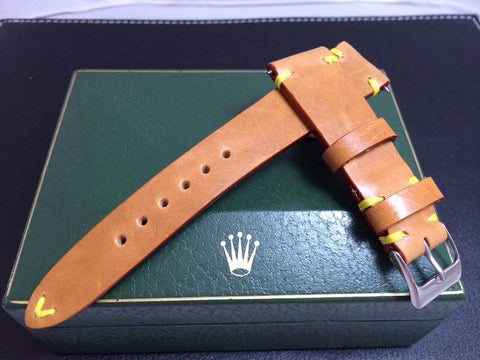 Vintage Rolex Handmade Italian Leather Strap (LV Leather)