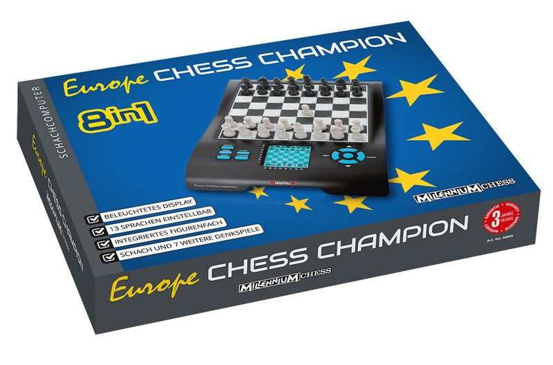 Millennium Europe Chess Champion Chess Computer + 7 Games (M800)