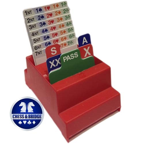 Standard Bridge Bidding Boxes - Set of 4 with Bidding Cards