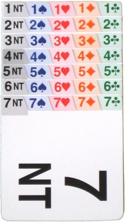 Bridge Bidding Cards: Single Set (Right or Left Handed)