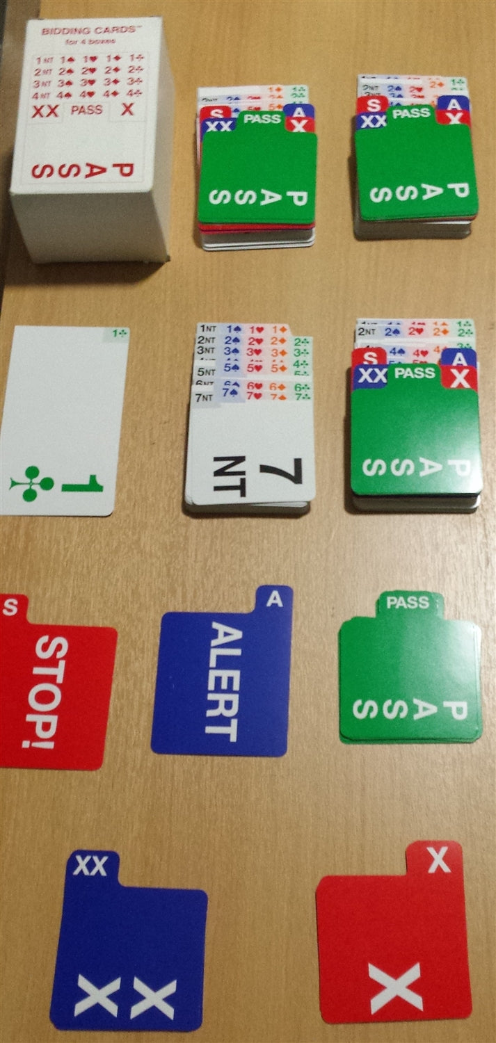 Bridge Bidding Cards: Set of 4 (Right or Left Handed)