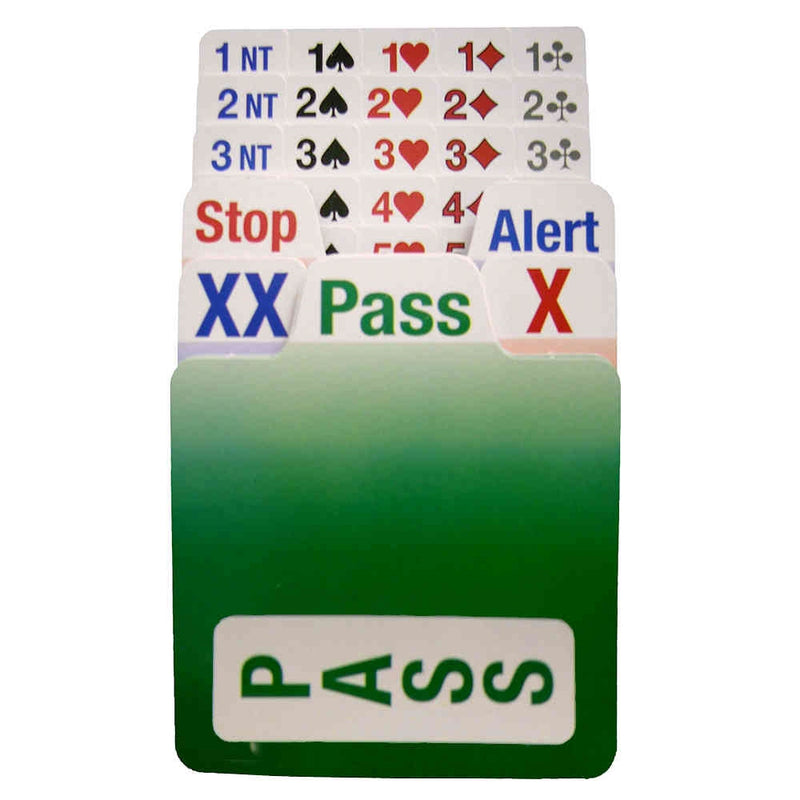 Bridge Partner - Bidding Cards: Set of 4 (Left Handed)