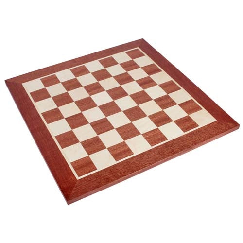 Regular 1 Sapele and Sycamore Chess Board with 50mm Squares