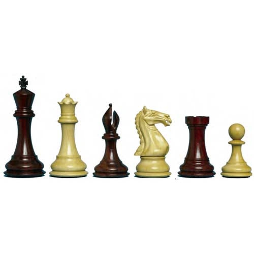 "Supreme Staunton Bud Rosewood Chessmen 4"" King"