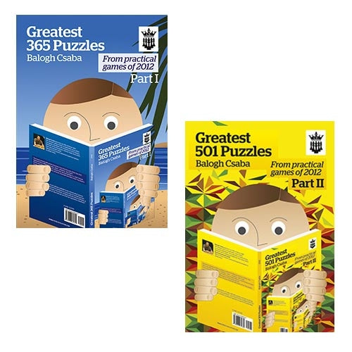 Greatest Puzzles of 2012 Parts 1 and 2: 365 and 501 puzzles - Balogh Csaba (2 books)