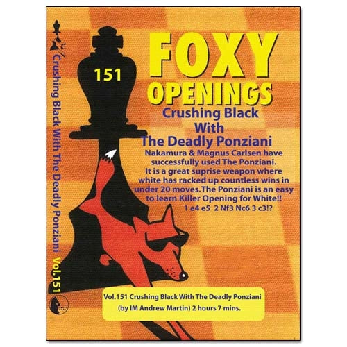 Foxy 151: Crushing Black With The Deadly Ponziani - Andrew Martin (DVD)