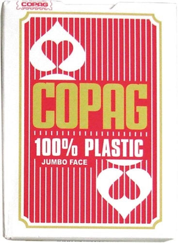 Copag 100% Plastic Playing Cards - Jumbo Index (Red)