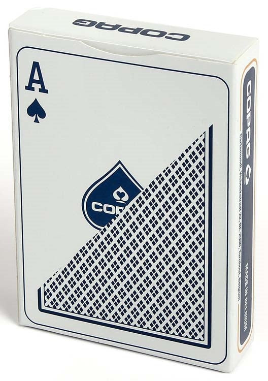 Copag 100% Plastic Playing Cards - Regular Index (Blue)