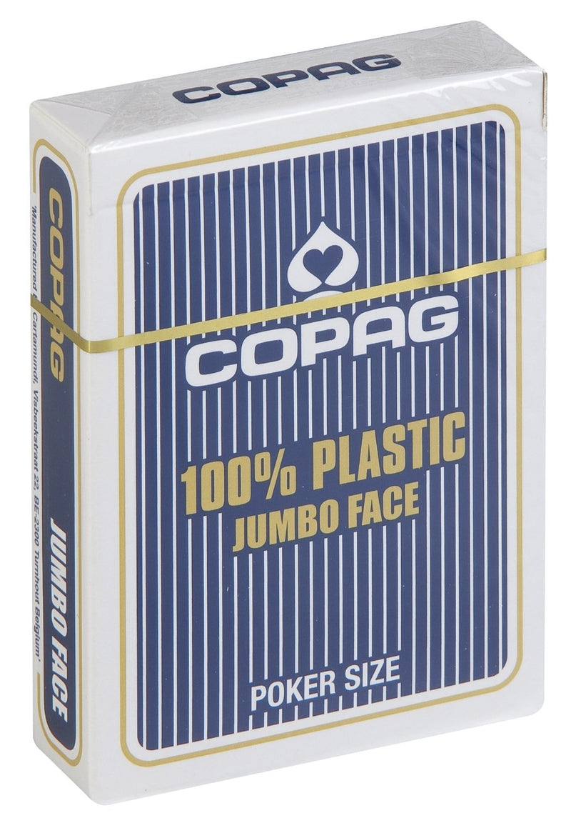 Copag 100% Plastic Playing Cards - Jumbo Index (Blue)