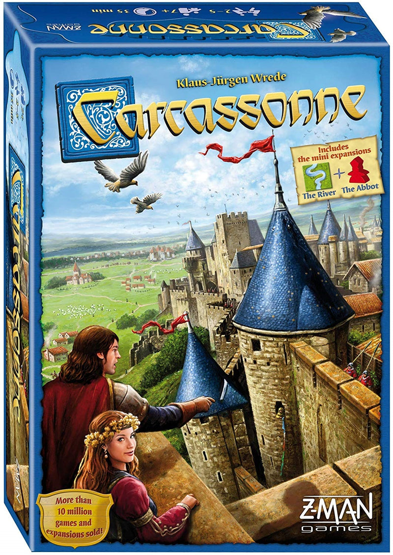 Carcassonne Board Game - Main Game (With River & Abbot Expansions)