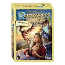 Carcassonne Board Game - Expansion 3: The Princess & The Dragon