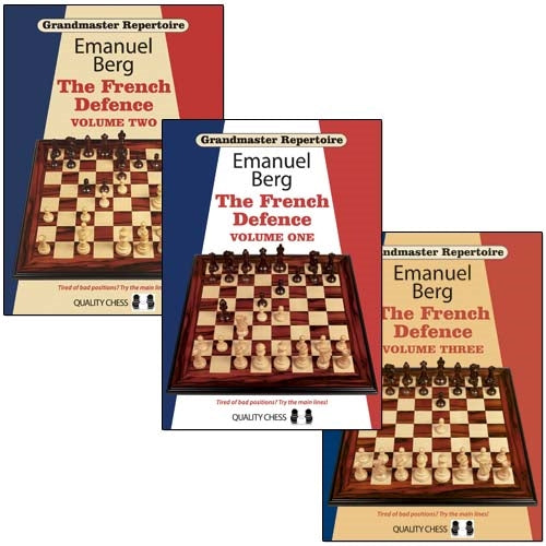 Grandmaster Repertoire: The French Defence Volume 1, 2 and 3 - Emanuel Berg (3 books, Paperback)