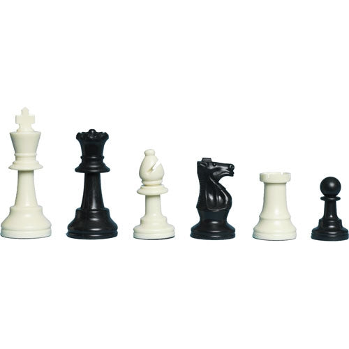Plastic Weighted Gambit Chess Set, Folding Board and Drawstring Bag