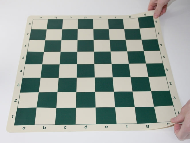 Plastic Weighted Gambit Chess Set, Deluxe Silicone Mat and Drawstring Bag