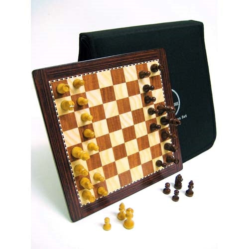Lasker Travel Magnetic Chess Set with Carry Case (25 x 25cm)