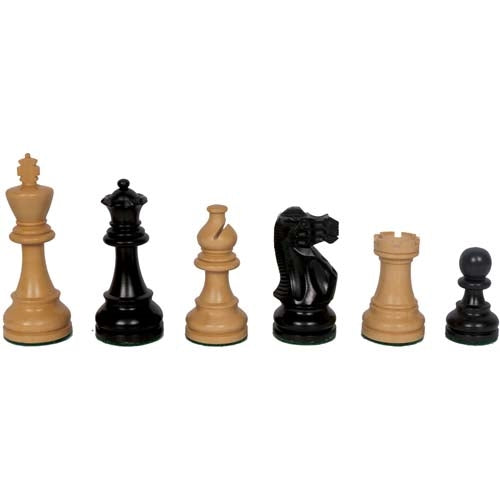 "Traditional American Staunton Chessmen - Ebonised (95mm / 3.75"")"