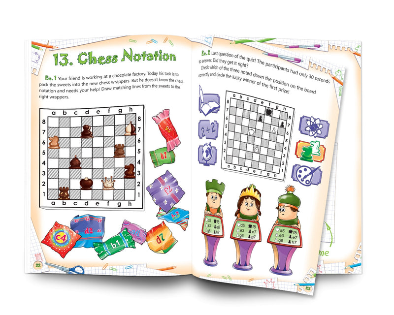 Chess: Easy to learn, fun to play - Level 1 Workbook 2 (The Rules)