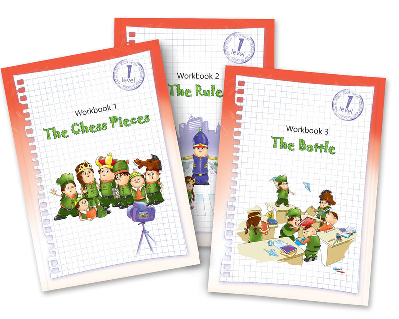 Chess: Easy to learn, fun to play - Level 1 Set of 3 Workbooks