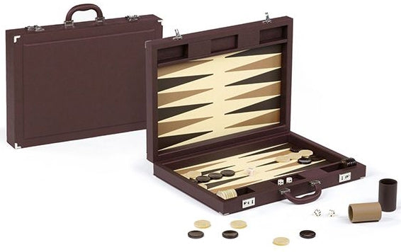Dal Negro Luxury Backgammon Set - Brown