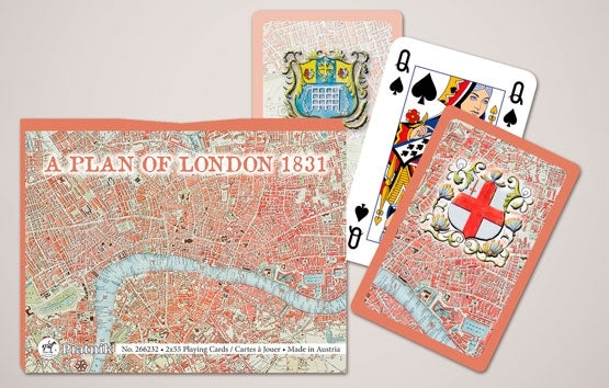 Double Deck Decorative Playing Cards - A Plan of London 1831