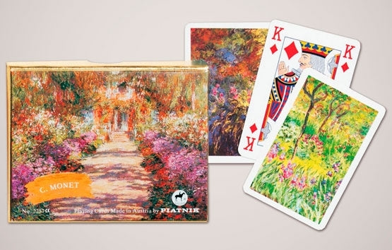 Double Deck Decorative Playing Cards - Monet Gardens at Giverny