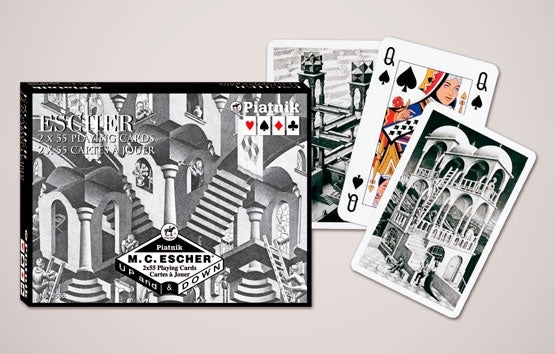 Double Deck Decorative Playing Cards - Escher Up & Down