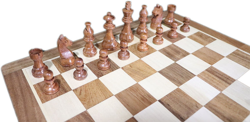 "Fischer Wooden Folding Magnetic Travel Chess Set (14 x 7"")"