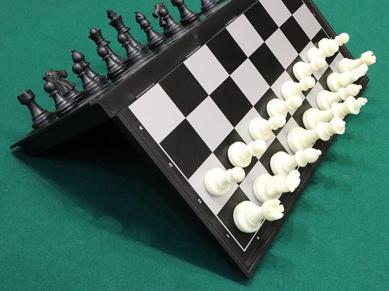 Folding Magnetic Plastic Chess Set - Medium