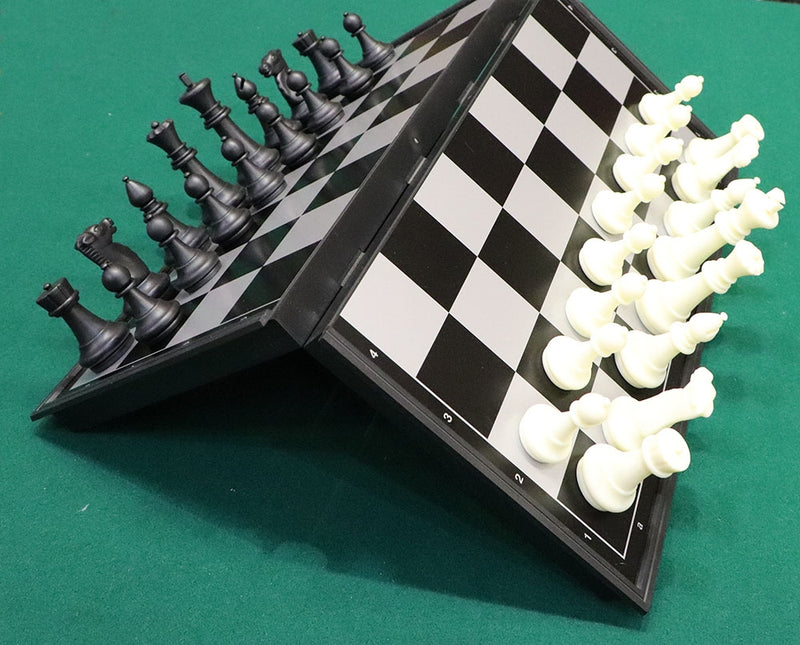 Folding Magnetic Plastic Chess Set - Large