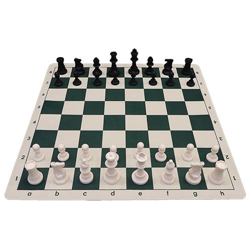 Deluxe Silicone Chess Set, Silicone Mat and Drawstring Bag