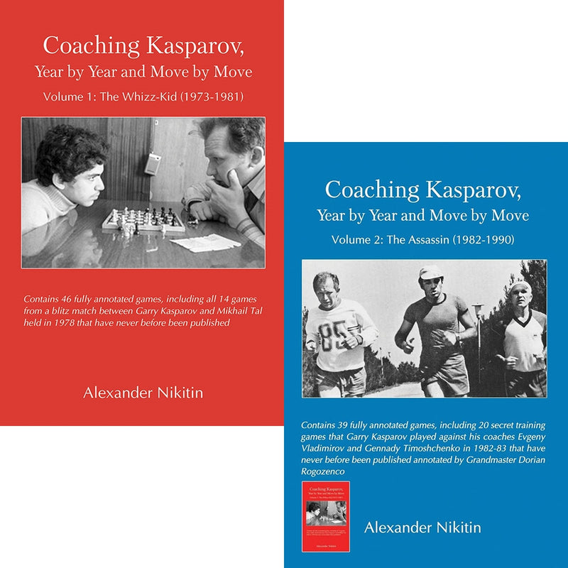 Coaching Kasparov Volumes 1 and 2 - Alexander Nikitin (2 books)