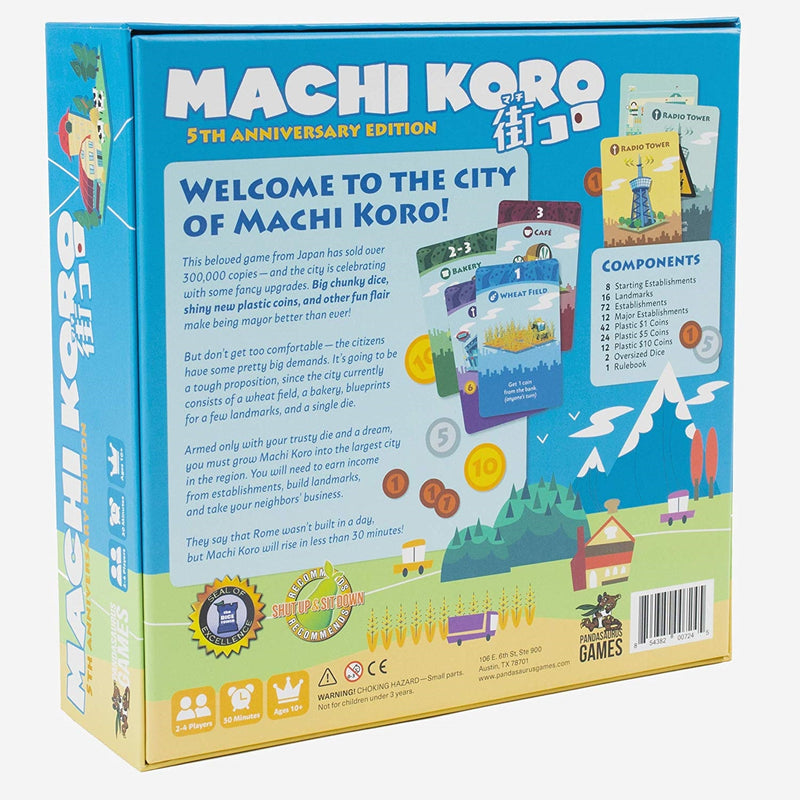 Machi Koro Board Game - 5th Anniversary Edition