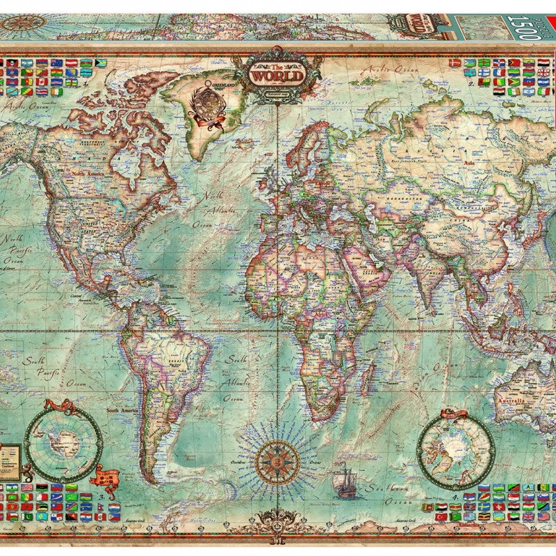 Educa Borras - Political Map of the World 1500 piece Jigsaw Puzzle